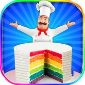 彩虹蛋糕制造者 - 烹饪彩虹生日蛋糕 1