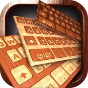 木制 键盘 主题 - 木 键盘 同 最好的 背景 和 字体 1