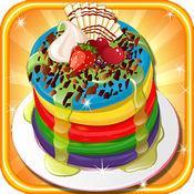彩虹煎餅蛋糕免費烹飪遊戲的女孩 1