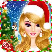 圣诞沙龙 - 圣诞圣诞老人女孩化妆和打扮游戏中实现实时3D