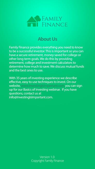 Family Finance App