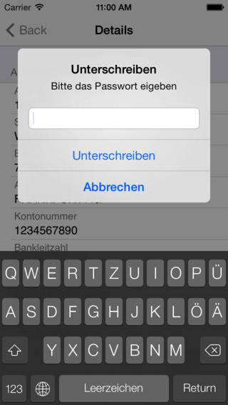 EBsec 4 for iPhone - Firmenzahlungsverkehr To Go