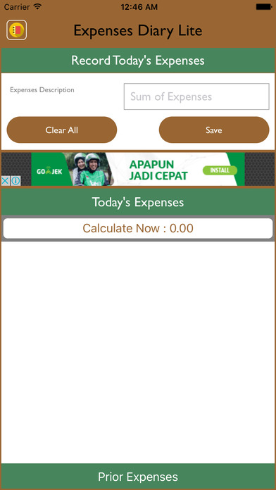 Expenses Diary Lite