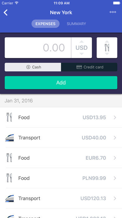 Expenditour  - Travel Expense Tracker