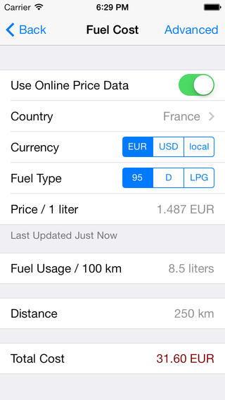 Fuels Calculator