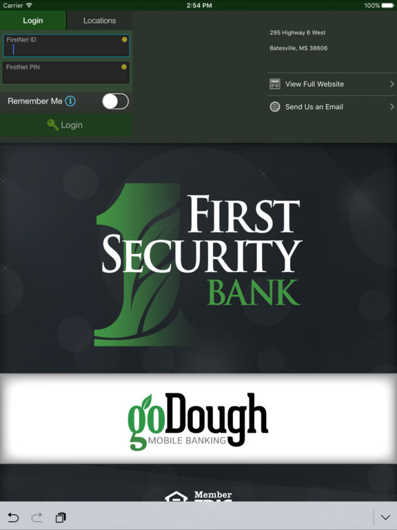 First Security Bank goDough App