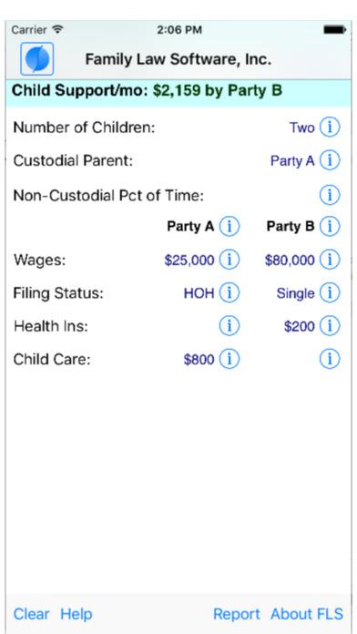 FLS California Child Support Calculator