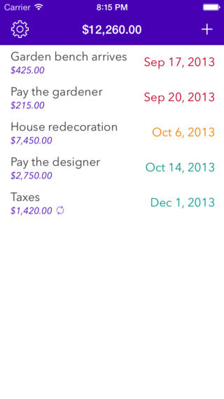 Expenses Planner