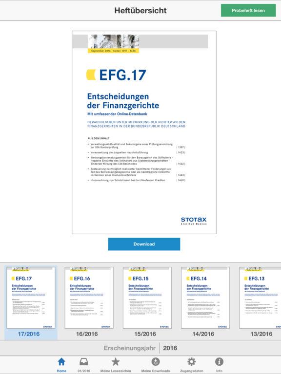 EFG – Entscheidungen der Finanzgerichte