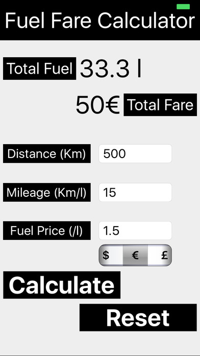 Fuel Fare Calculator