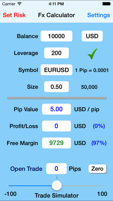 Forex, Gold & Silver Trade Calculator