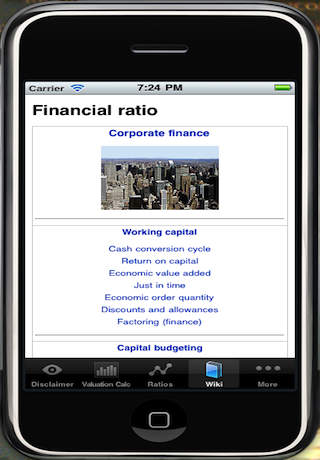 Financial Ratio App