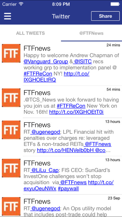 FTF Events App