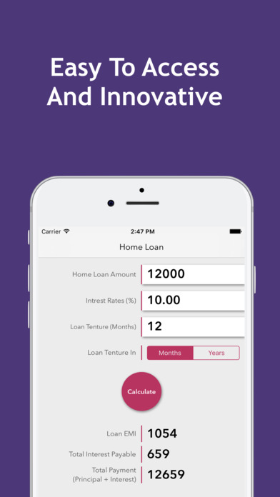 EMI Calculator : Home, Car, Personal