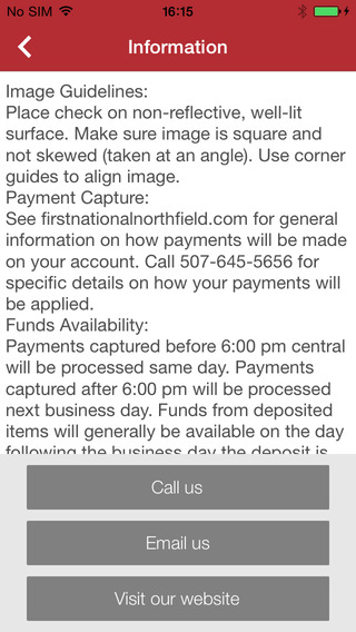 First National Bank of Northfield Mobile Deposit