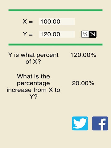 Easy Percentage Calculator - Compute Percent Number