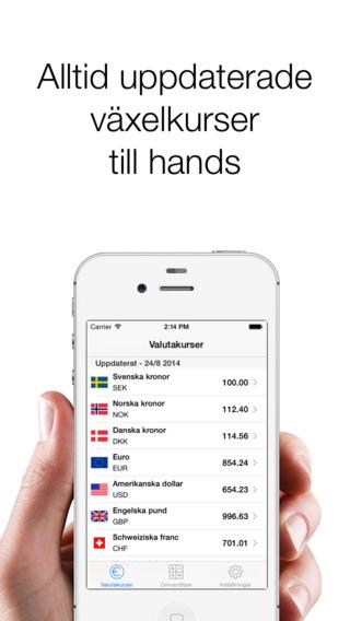 Exchange rates SEK