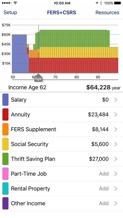 FERS+CSRS Retirement Estimator
