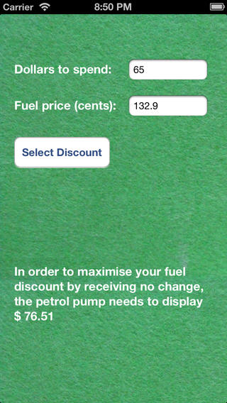 Fuel Discount Optimiser