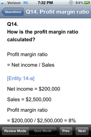 Finance Ratio