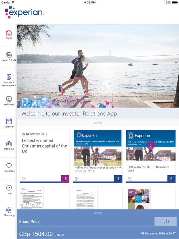 Experian plc Investor Relation