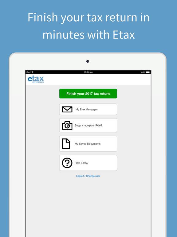 Etax Mobile App