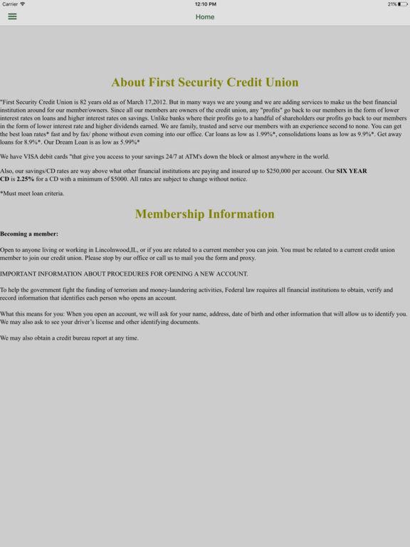 First Security CU
