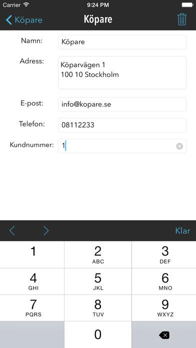 FakturaMallen - Fakturera från din mobil