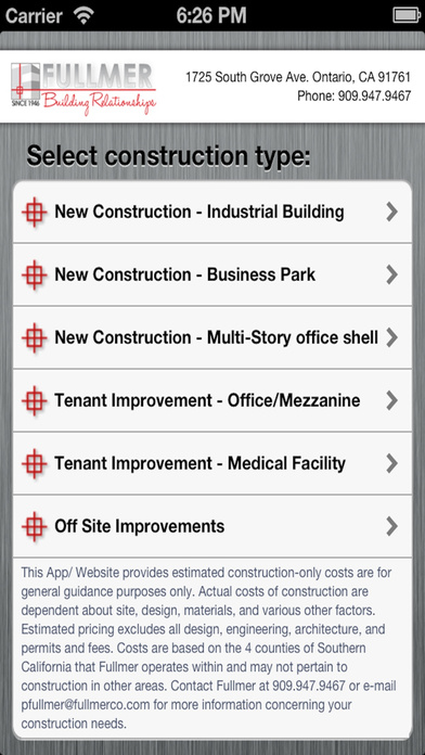 Fullmer Construction Industrial Calculator
