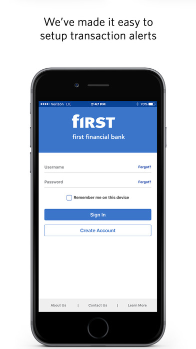 First Financial Bank BackPocket
