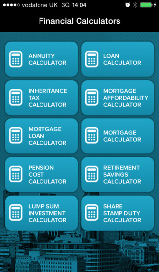 Financial Calculators App