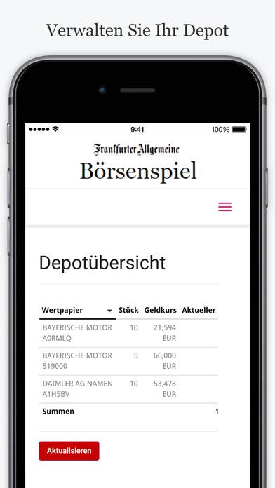 FAZ.NET Börsenspiel