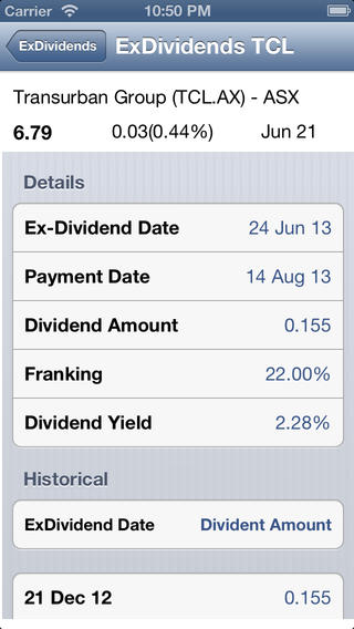 ExDividends