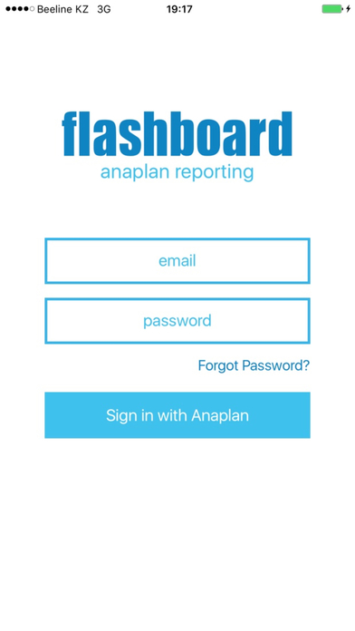 Flashboard - Anaplan reporting