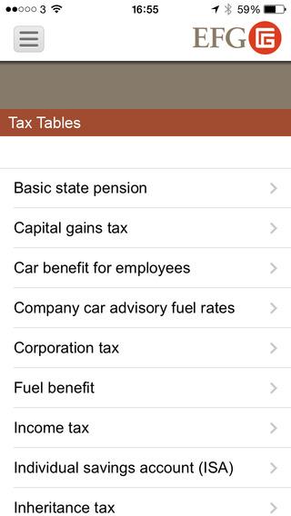 EFG Tax Tools