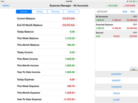 EZ Expense Manager