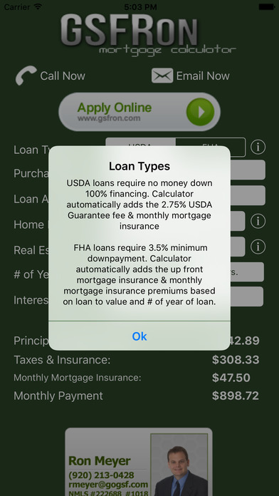 FHA/USDA Mortgage Calculator