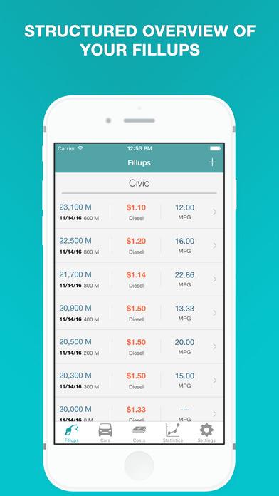 Fuel - Fuel Cost Calculator  MPG, Mileage Tracker