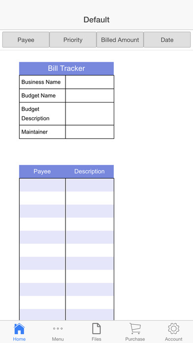 Expenses Register
