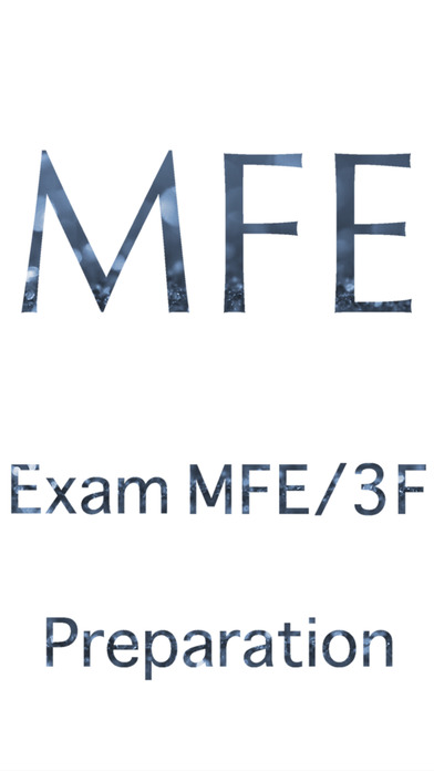 Exam MFE Preparation