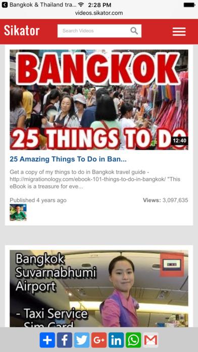 Bangkok  Thailand travel guide and city map
