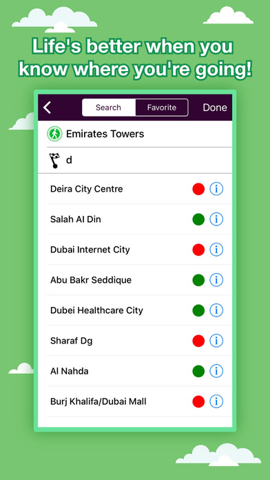 Dubai Transport Map