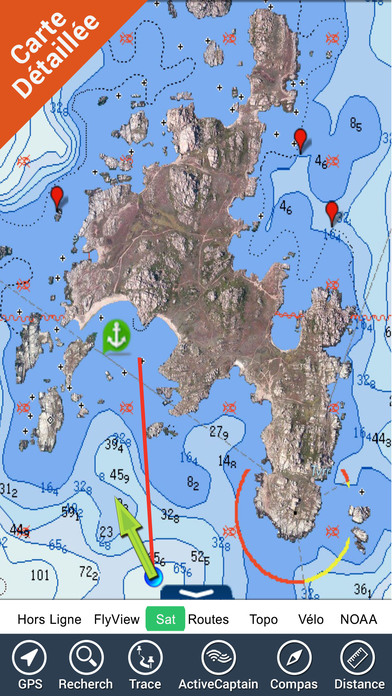Boating Corsica (Corse) GPS nautical chart fishing