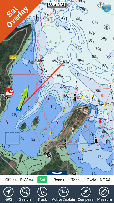 France Atlantic GPS nautical charts fishing map