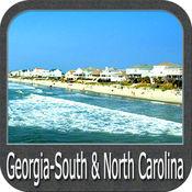 Boating Georgia South to North Carolina GPS Map 5.3.1