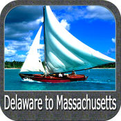 Delaware to Massachusetts GPS chart Navigator
