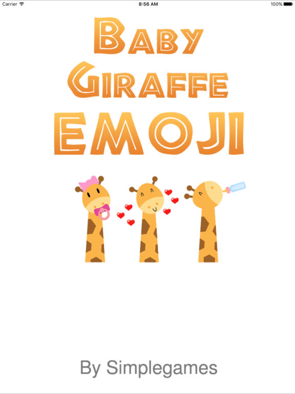 Baby Giraffe Emoji & Keyboard