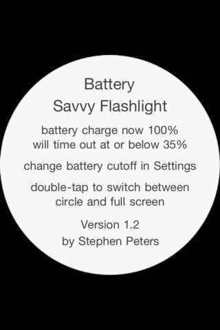 Battery Savvy Flashlight