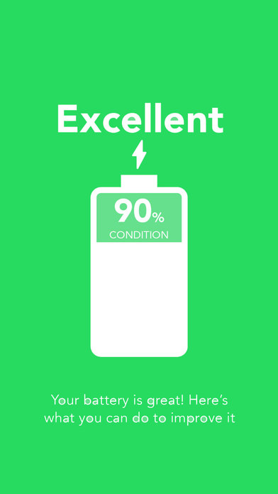 Battery Life App health 200 for iPhone  iPad