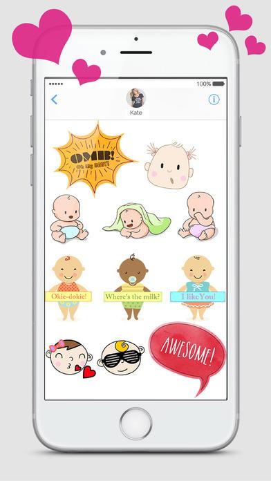 Babies - Baby Emojis  Milestone Stickers